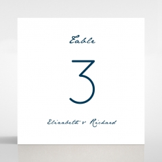 Eternal Simplicity table number card stationery