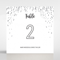 Fire Sparkle wedding venue table number card stationery