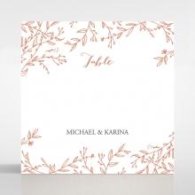 Fleur wedding reception table number card