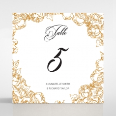 Flourishing Garden Frame wedding table number card stationery design