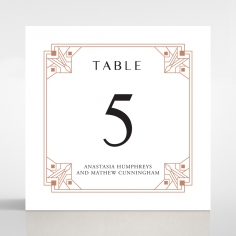 Gatsby Glamour wedding table number card design