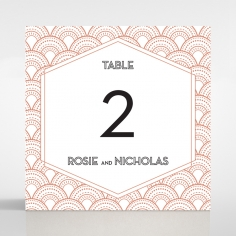 Gatsby Glamour wedding venue table number card stationery