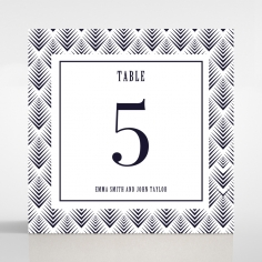Gradient Glamour table number card design