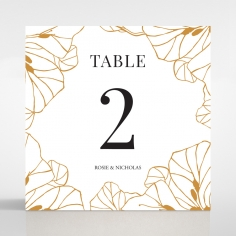 Grand Flora wedding venue table number card stationery item