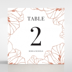 Grand Flora wedding venue table number card stationery