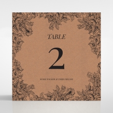 Hand Delivery wedding reception table number card design