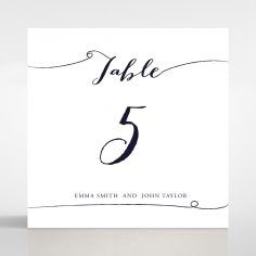 Infinity wedding venue table number card stationery