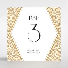 Jeweled Ikat wedding table number card