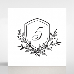 Luxe Paper Elegance table number card stationery design