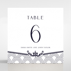 Luxe Victorian table number card stationery