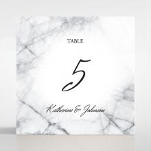 Marble Minimalist wedding reception table number card design