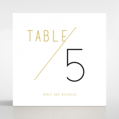 Minimalist Love reception table number card stationery design