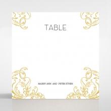 Modern Crest wedding venue table number card design