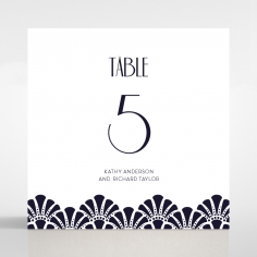 Modern Deco wedding venue table number card stationery item