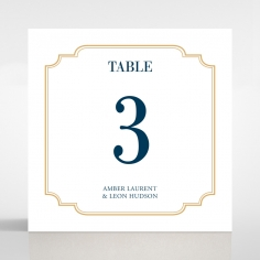Noble Blue Gates wedding reception table number card stationery item
