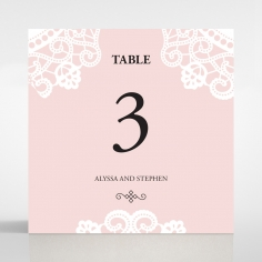 Oriental Charm wedding venue table number card stationery