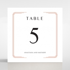 Ornate Luxury table number card design