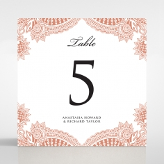 Paisley Grandeur reception table number card stationery