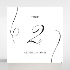 Paper Minimalist Love wedding table number card stationery design