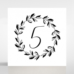 Paper Modern Romance table number card