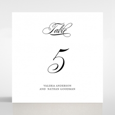 Paper Regal Enchantment wedding table number card