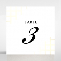 Quilted Letterpress Elegance reception table number card stationery design