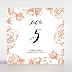 Rose Romance Letterpress reception table number card stationery item