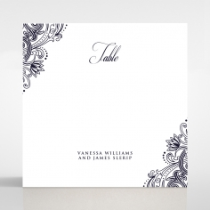 Royal Embrace reception table number card stationery item