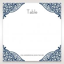 Royal Frame wedding venue table number card