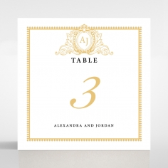 Royal Lace wedding table number card stationery item