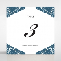 Royal Prestige wedding reception table number card stationery