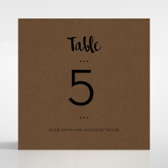Rusted Charm wedding table number card stationery