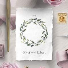Rustic Affair reception table number card stationery