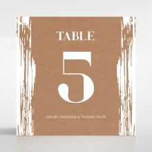 Rustic Brush Stroke reception table number card stationery item