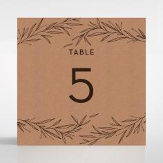 Rustic Oriental wedding reception table number card design