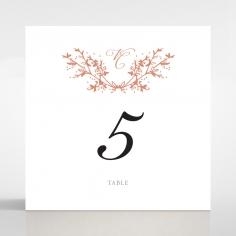 Secret Garden wedding reception table number card stationery item
