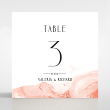 Serenity Marble wedding reception table number card stationery design