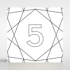 Silver Chic Charm Paper wedding venue table number card stationery item