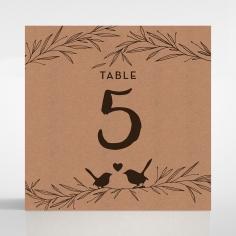 Springtime Love wedding reception table number card stationery design