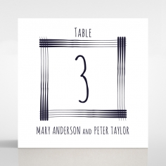 Swept Away wedding stationery table number card
