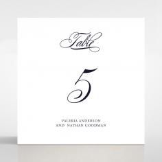 Timeless Romance table number card stationery design