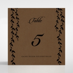 Unbroken Romance table number card stationery