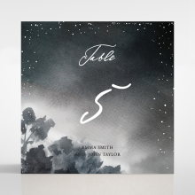 Under the Stars wedding reception table number card