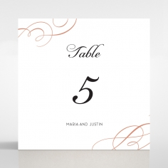 United as One table number card design