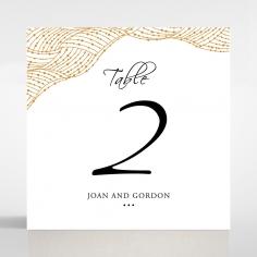 Woven Love Letterpress wedding reception table number card design