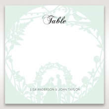 Arch of Love wedding table number card stationery