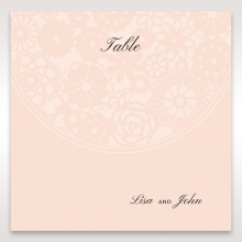 Blush Blooms table number card stationery design
