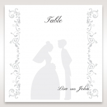 Bridal Romance table number card stationery item