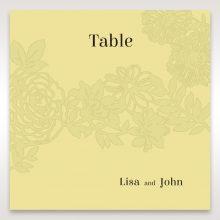 Charming Laser cut Garden wedding reception table number card stationery item