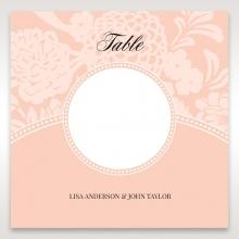Classic Laser Cut Floral Pocket wedding venue table number card stationery design